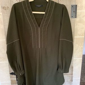 Nanette Lepore dark olive green beaded tunic